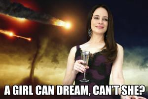 Victoria Grayson dreams of the apocalypse, Photos: ABC, Ig0rZh/iStock ...