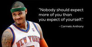 Words of Wisdom: Carmelo Anthony #Knicks