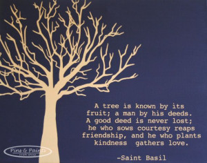 tree is known by its fruit....~Saint Basil~ quote