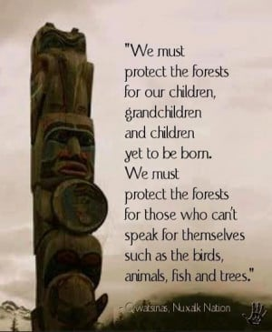 We must protect the forests that have been left by our ancestors.
