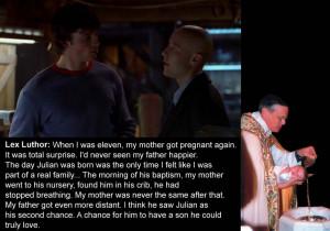 Smallville Season 1 Episode 16 (Stray): Lex Luthor tells Clark Kent ...