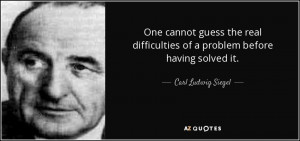 Carl Ludwig Siegel Quotes