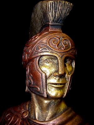 Greek Warrior Spartan Bust