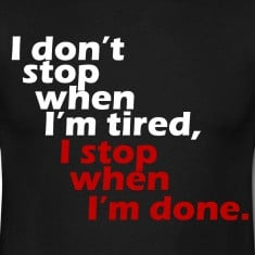 don't stop workout motivation white T-Shirts