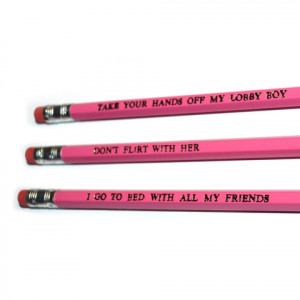 ... Budapest Hotel stamped quote Pencil Set by POPCULT from LA LA LAND