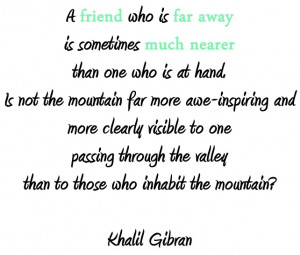 Khalil Gibran on friends