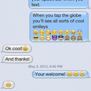 Cute — Mom learns how to use emojis. Source: Instagram user ari_on ...