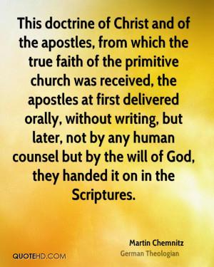 Martin Chemnitz Faith Quotes