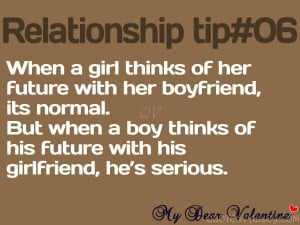 ... Of Her Future With Her Boyfriend, It's Normal - Relationship Quote