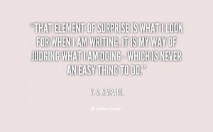The Element Of Surprise Quote