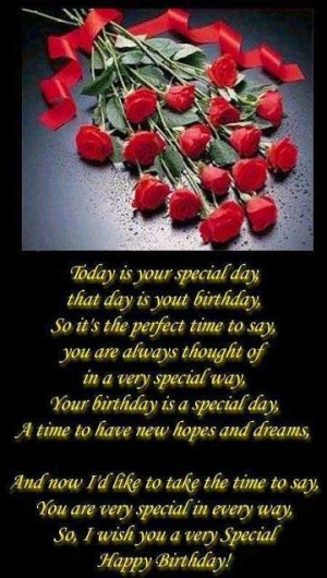 Your Special To Me Quotes Today is your special day,
