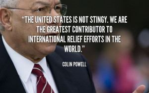 The United States Is Not Stingy. We Are The Greatest Contributor To ...