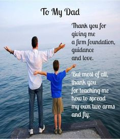Father's Day Message from Son to Father #Fathers #Father 's Day More