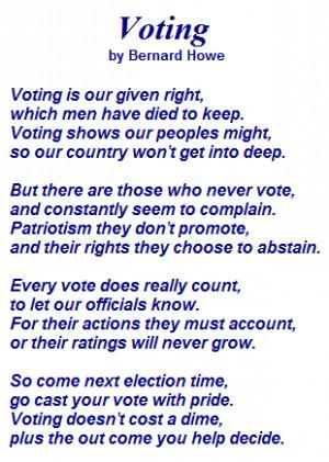 Voting Poem