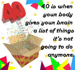 40th birthday quote