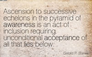 Ascension To Successive Echelons In The Pyramid Of Awareness Is An Act ...