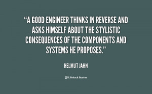 good engineer thinks in reverse and asks himself about the stylistic ...