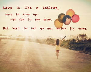 picture ; balloon , quotes
