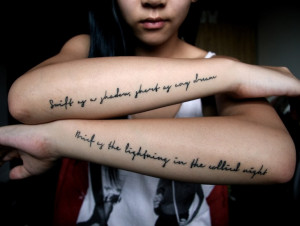 Quotes on Forearm Tattoo