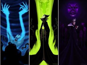 Ursula, Maleficent, the Evil Queen