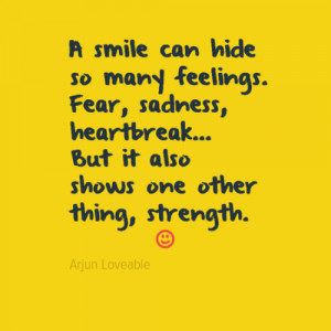 smile can hide so many feelings. Fear, sadness, heartbreak... But it ...