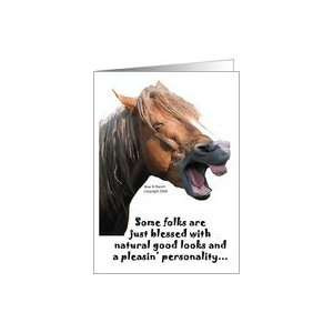 106352159 funny horse happy anniversary couple card Printable Humorous ...