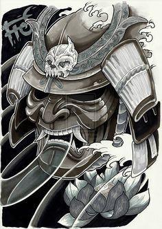 samurai warrior mask more tattoo ideas japanese tattoo tattoo samurai ...