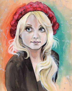 :thesunshine: bewitchthemind:This painting of Evanna Lynch ...