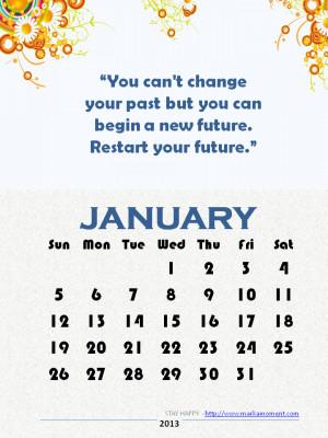 January 2014 Motivational Thoughts Calendar