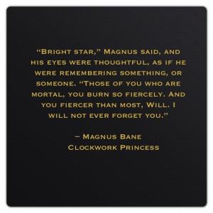 Bane Quotes Magnus bane (clockwork