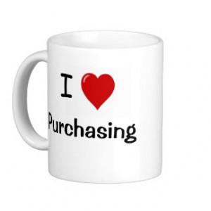 Love Purchasing - I Heart Purchasing Coffee Mugs