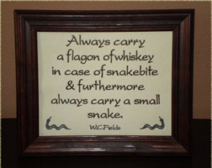 Funny sign WC Fields Quote