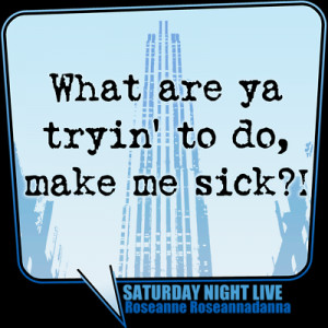 What Are You Trying To Do, Make Me Sick?! - SNL
