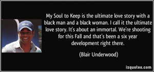 Soul to Keep is the ultimate love story with a black man and a black ...