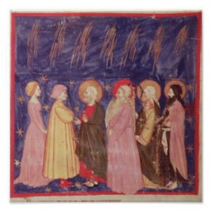 Dante and Beatrice with the Saints of Paradise Print