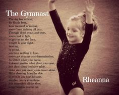 If I ever have a daughter who becomes a gymnast, this will be hanging ...