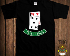 HIt That Blackjack 21 Cards Gambler Texas Holdem World Series WSOP ...