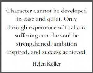 Helen Keller Quote on Character