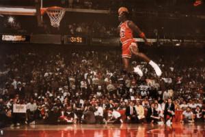 Title: Michael Jordan Famous Foul Line Dunk Vintage Sports Poster ...