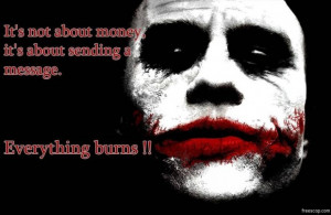 The dark knight joker quotes chaos