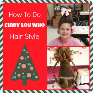 Holiday Hair: How To Do Cindy Lou Who Hair Style From Dr. Seuss' The ...