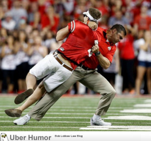 During the Ohio State football game, someone ran out onto the field ...