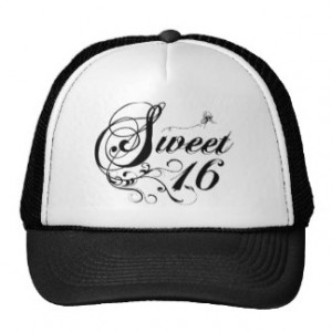 Sweet Sixteen (16) Quotes Mesh Hats