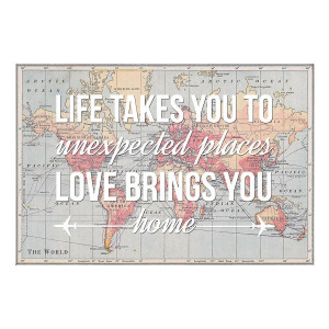 Unexpected Quotes Personalised home quote map