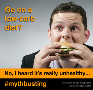 """Low carb diets are unhealthy"""" – This is a myth !"""