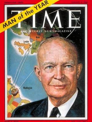 TIME magazine names U.S. President Dwight David
