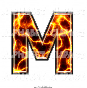Larger Preview: Illustration of a Magma Capital Letter M by Chrisroll