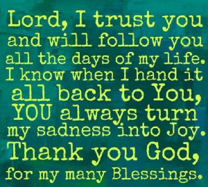 Thank You God For My Blessings Quotes