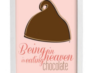Hershey Kiss Print - Chocolate Food Quote - Poster Pink Kitchen Decor ...