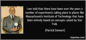 that there have been over the years a number of experiments taking ...